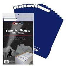 BCW 7 COMIC BOOK BLUE DIVIDERS NEW STORAGE FOR LONG SHORT BOXES ACID FREE