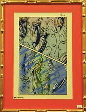 E.H. Raskin 'Fantaisies Oceanographiques No.20' Pochoir in Gilt Bamboo Frame