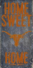 "Texas Longhorns Home Sweet Home Wood Sign - NEW 6"" x 12"" Wall Decoration Gift"
