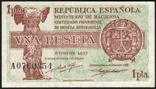 1937 1 Peseta Spain Vintage Old Paper Money Spanish Banknote Currency Note XF