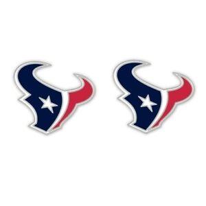 Houston Texans Football Team Logo NFL Silver Post Stud Earrings Set