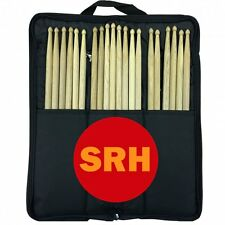 10 Pair SRH Drum Sticks Stagg Bag Nylon Black Beater Mallet Brush Drumstick Case