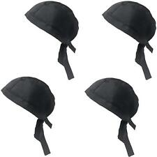 4 Pcs Professional Adjustable Chef Hat Cooking Kitchen Catering Skull Cap, Black