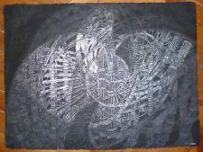 Csech Hélène encre sur papier signée art abstrait abstraction L'art Visionnaire