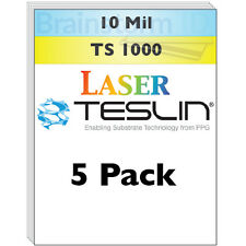 Laser Teslin Synthetic Paper (TS 1000) For Making PVC-Like ID Cards - 5 Sheets