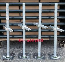 "Cbmscaffold A set 4 New Scaffolding 24"" Galvanized Screw Jack with Base Plate"