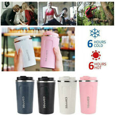 Insulated Coffee Mug Cup Travel Thermal Stainless Steel Flask Vacuum Leakproof