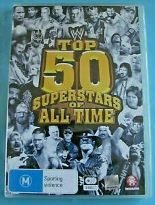 WWE TOP 50 SUPERSTARS OF ALL TIME DVD NEW SEALED Region 4