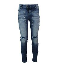Jeans Jeggings Fit Donna GAUDì SALLY con Strappi Perline applicate W30 Mis IT 44