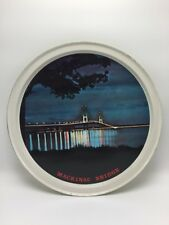 Vtg Mackinac Bridge Serving Tin Tray 12.5�