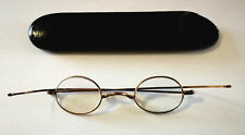 Antique Johnston Watson. Warrington Brass framed Glasses with Hard Case