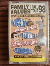 Family Values Tour '98 NEW CASSETTE Korn, Ice Cube, Limp Bizkit, Orgy, Rammstein
