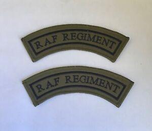 RAF Regiment Mudguards Shoulder Titles Pair, MTP Military, Combats Smock, Hook