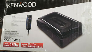 Kenwood KSC-SW11 Compact Powered Subwoofer, 150W Max power, Remote Control