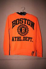 """Orangener Kapuzenpulli """"Boston Athl.Dept."""" von C&A, Größe 146/152"""