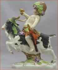 "ANTIQUE GERMAN PORCELAIN BACCHUS AND GOAT INCISED ""18"" BLUE A.W.F. KISTER MARK"