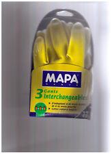 3 Gants Latex  MAPA interchangeables, intérieur coton - Taille 7 / Medium NEUFS