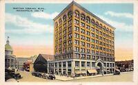 Indianapolis Indiana 1938 Postcard Traction Terminal Building