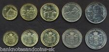 SERBIA COMPLETE FULL COIN SET 1+2+5+10+20 Dinara 2010 UNC UNCIRCULATED LOT of 5