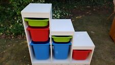 White IKEA Trofast Childrens Toy Storage Unit Drawers with boxes