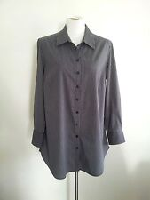 Classic Black & White! Maggie T size 12 cotton blend striped long sleeve shirt