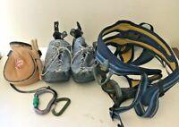 Climbing Combo 5.10 Stealth Rock Climbing Shoes Petzl Calidris Harness Chalk bag