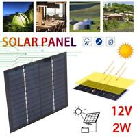 12V 2W Solar Panel Module DIY For Light Battery Cell Phone Toys Chargers 2020