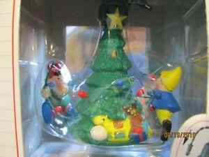 NOMA Ornamotion 1989 Elves decorating Christmas tree rotates New in Box