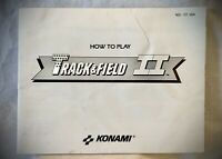 Track & Field II - 1988 Nintendo NES Instruction Manual Booklet Only