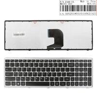 New Keyboard for LENOVO Z500 SILVER FRAME BLACK(Win8) US