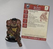 Hill Giant Barbarian 49/60 Dungeons & Dragons Miniatures D&D Mini Figure + card
