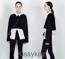 ZARA Black STUDIO Cashmere Short Kimono Sleeve Layering Sweater M 12 14 16 BNWT