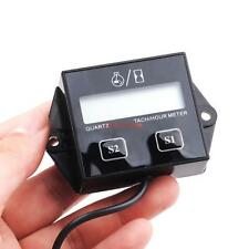Digital Engine Tach Tachometer Hour Meter Inductive For Motorcycle Motor Quad