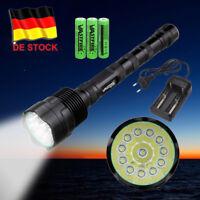 Taktische Taschenlampe AKKU LADEGERÄT Cree XM-L T6 Selbstverteidigung Jagd SOS