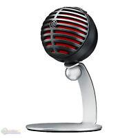 Shure MV5 Digital Condenser Microphone (Black) + USB & Lightning Cable