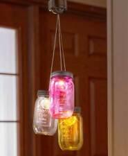 Set da 3 SOLARE illuminato Barattolo di vetro Parete Veranda Patio luci giardino