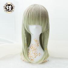 Harajuku Lolita Green Cosplay Wig Women Heat Resistant Synthetic Straight Hair