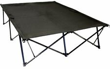 Double Camping Cot Sleep Foldable Lightweight Folding 2 Person Dual