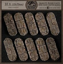10 x 'bike stands' bases scenery wargame terrain (UNPAINTED) by Light Caster
