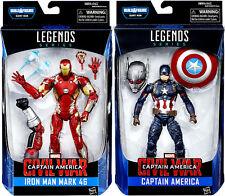 2 pc set Marvel Legends Iron Man & Captain America Civil War Figures NM/M New