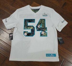NIKE MENS NFL SUPER BOWL 54 LIV MIAMI JERSEY Size XL AT9965 100 White NWT