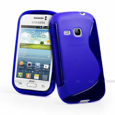 Blue Silicone/Gel/Rubber Mobile Phone Cases, Covers & Skins for Samsung Galaxy S
