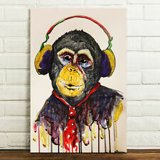 Canvas Prints Home Decor Wall Art Painting Picture-DJ Music Monkey Unframed