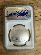 2014 Hall of Fame Baseball $1 FRANK ROBINSON Autographed SIGNED NGC MS70
