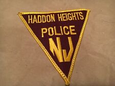 HADDON HEIGHTS NEW JERSEY  POLICE patch NB