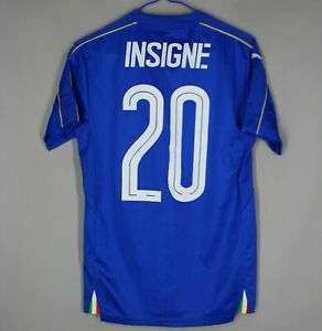 ITALY NATIONAL TEAM 2016/2017 HOME FOOTBALL SHIRT JERSEY MAGLIA XS #20 INSIGNE