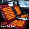 2x Car Front Heated Seat Cover Heating Pad Mat Cushion Winter Warmer Hooks 12V