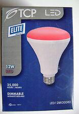 TCP LED12BR30DRD 12W 120V RED BR30 Dimmable LED Light Bulb