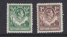 GVI NORTHERN RHODESIA  1d & 1/2d single stamps MNH