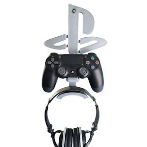 Playstation 4 Headphones & Controller Wall Mount Logo